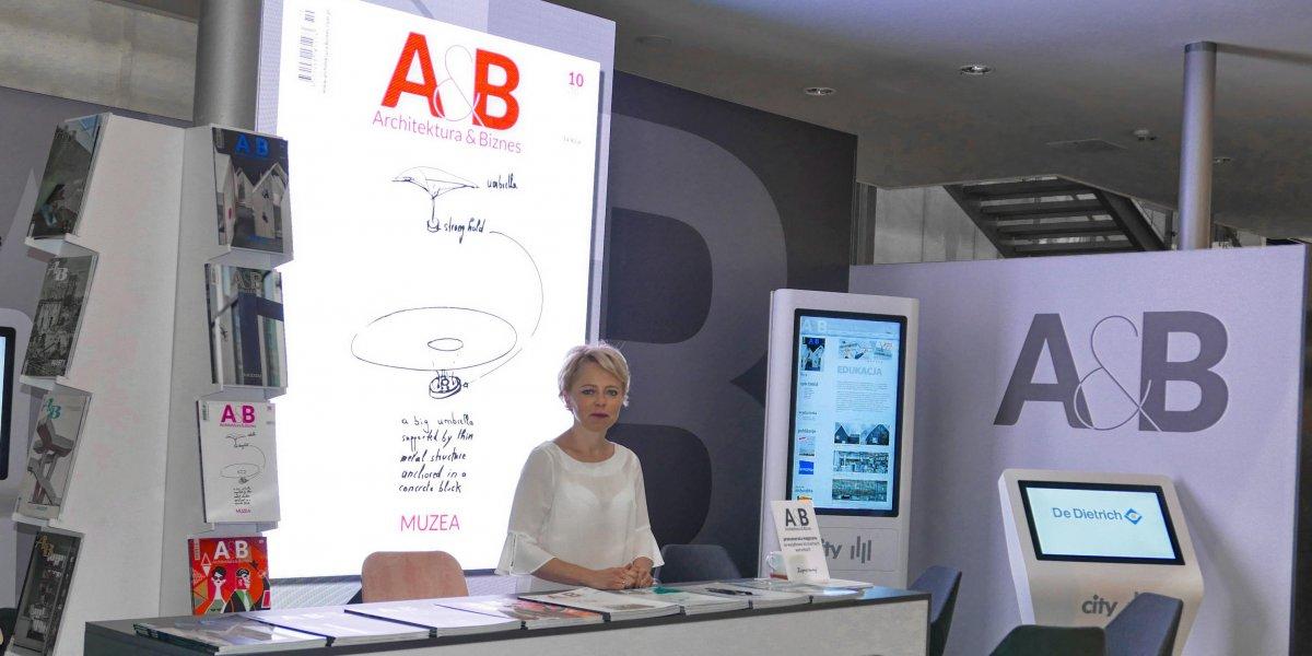 Architektura&Biznes. Expo. Projektowanie i zabudowa stoisk targowych. Rozwiązania multimedialne. Digital Signage. Kioski multimedialne.