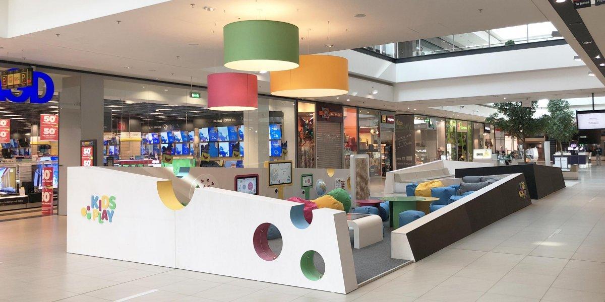 Kids Play. Multimedialne stoisko dla dzieci. Przestrzeń edukacyjna. Oferta rozrywkowa dla dzieci. Galeria Echo. Kielce