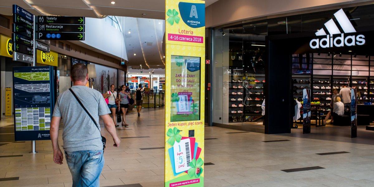 Galeria Avenida. Poznań. Rozwiązania multimedialne. Digital. Digital Signage. Kioski loteryjne I CITY. Ekspert komunikacji wizualnej