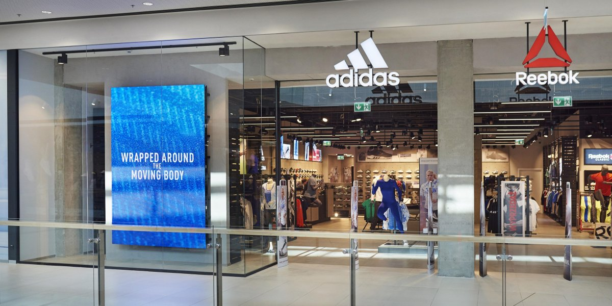 Adidas. Digital Signage. Rozwiązania multimedialne. Ekran LED.