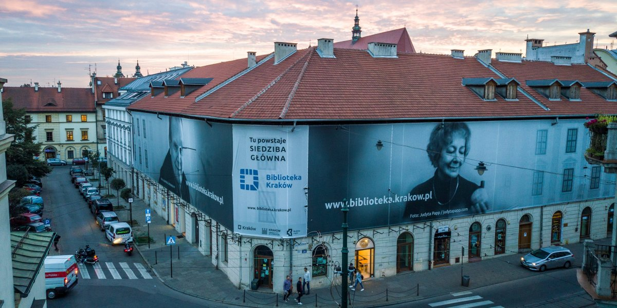 Biblioteka Kraków. Siatka mesh. Technologia UV I CITY