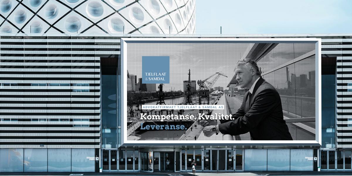Tjelflaat & Samdal. Identyfikacja wizualna. Projekt i realizacja strategii obecności marki na rynku I CITY. Ekspert komunikacji wizualnej